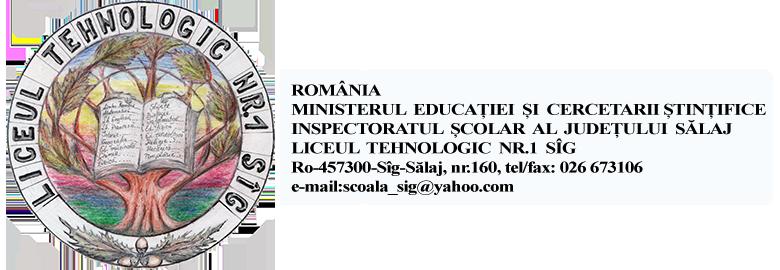 Liceul Tehnologic Nr.1 Sîg Logo